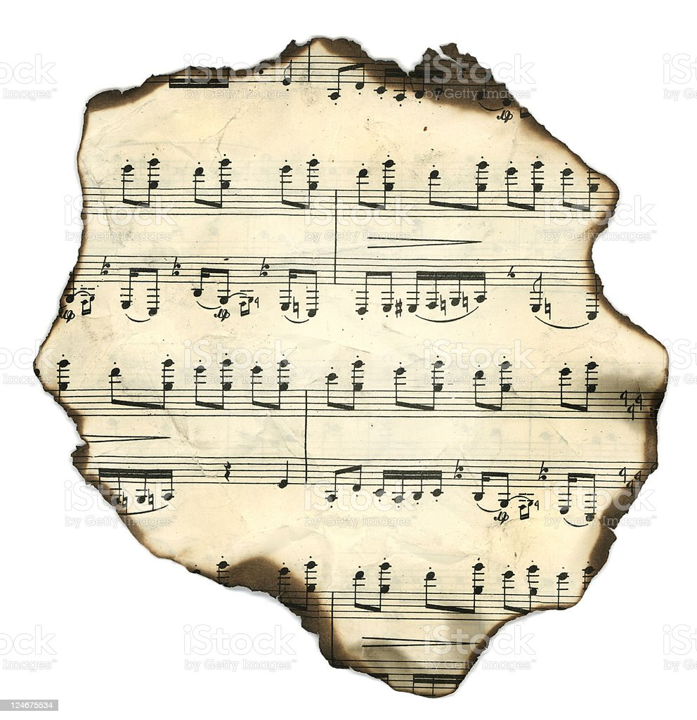 Vintage music sheet royalty-free stock photo