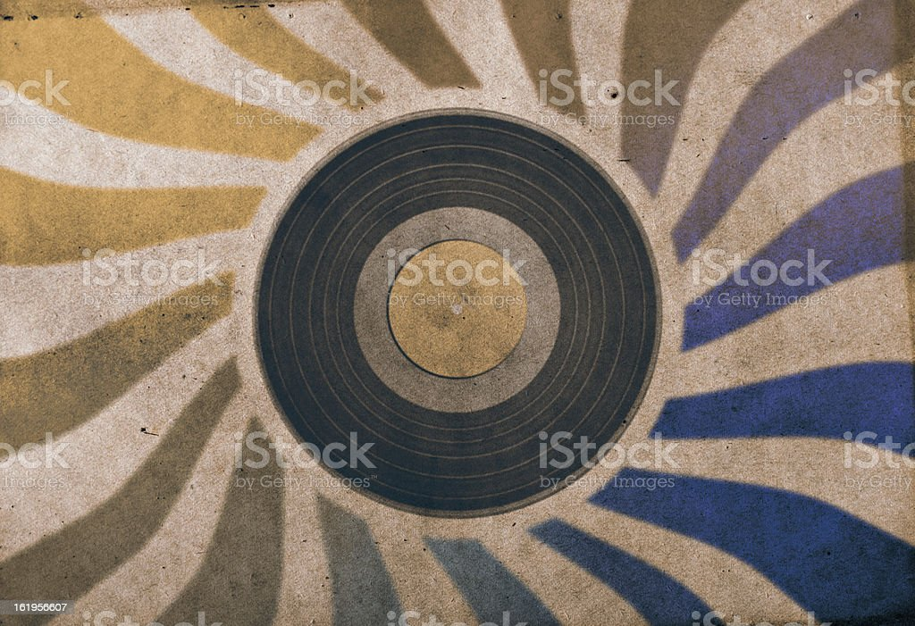 vintage musical background royalty-free stock photo