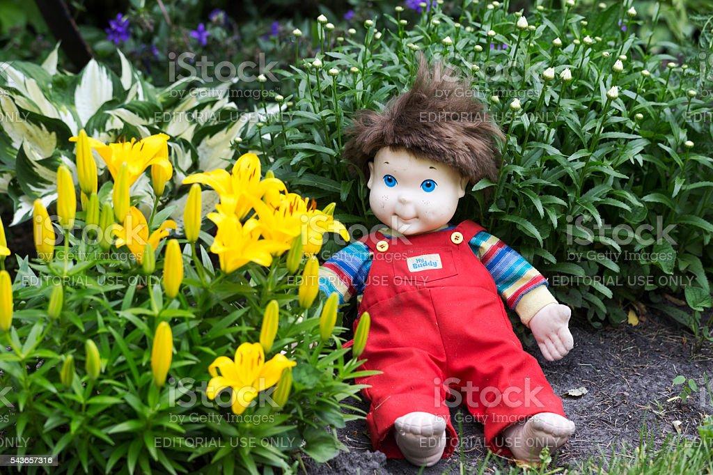 Vintage My Buddy Doll stock photo