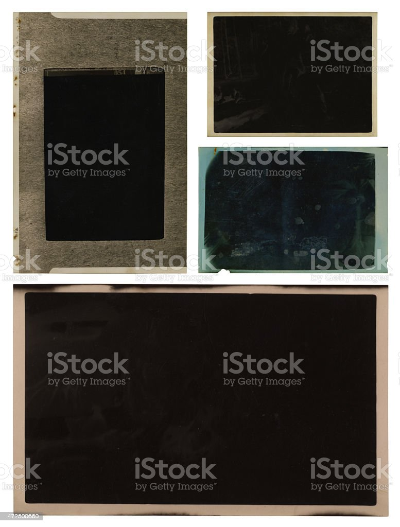 Vintage negatives collection (with path) stock photo
