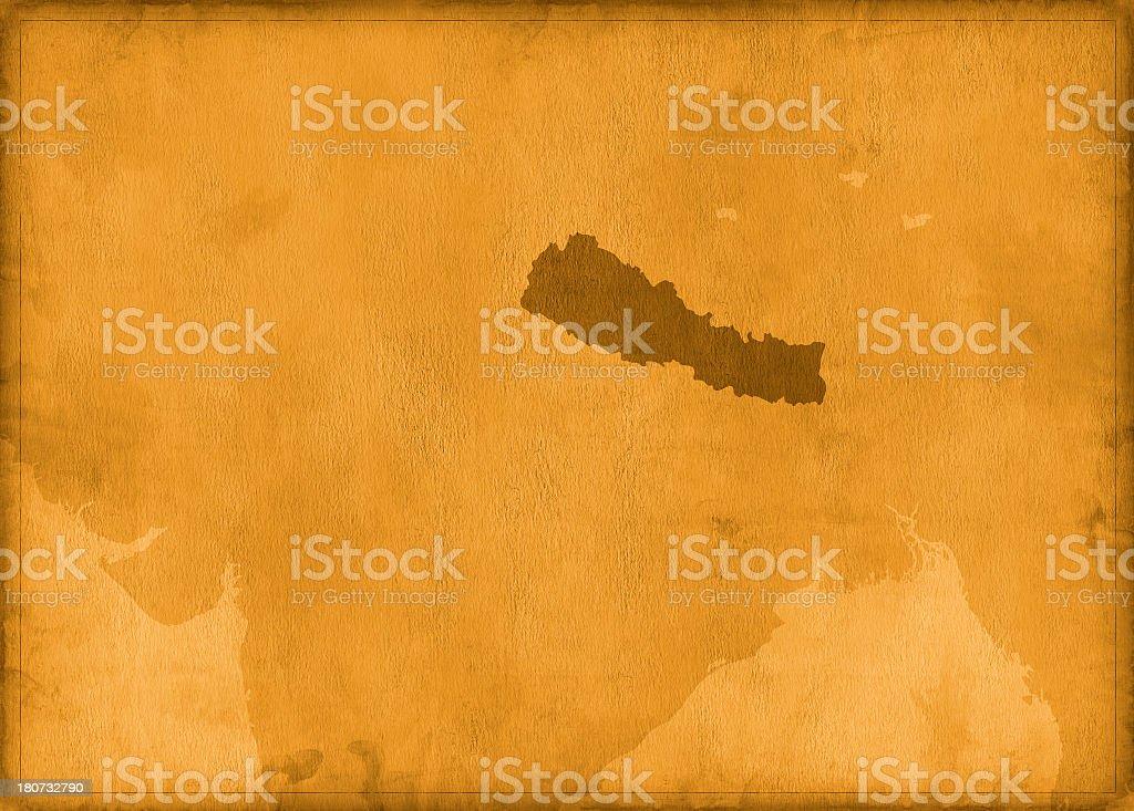 Vintage nepal map royalty-free stock photo