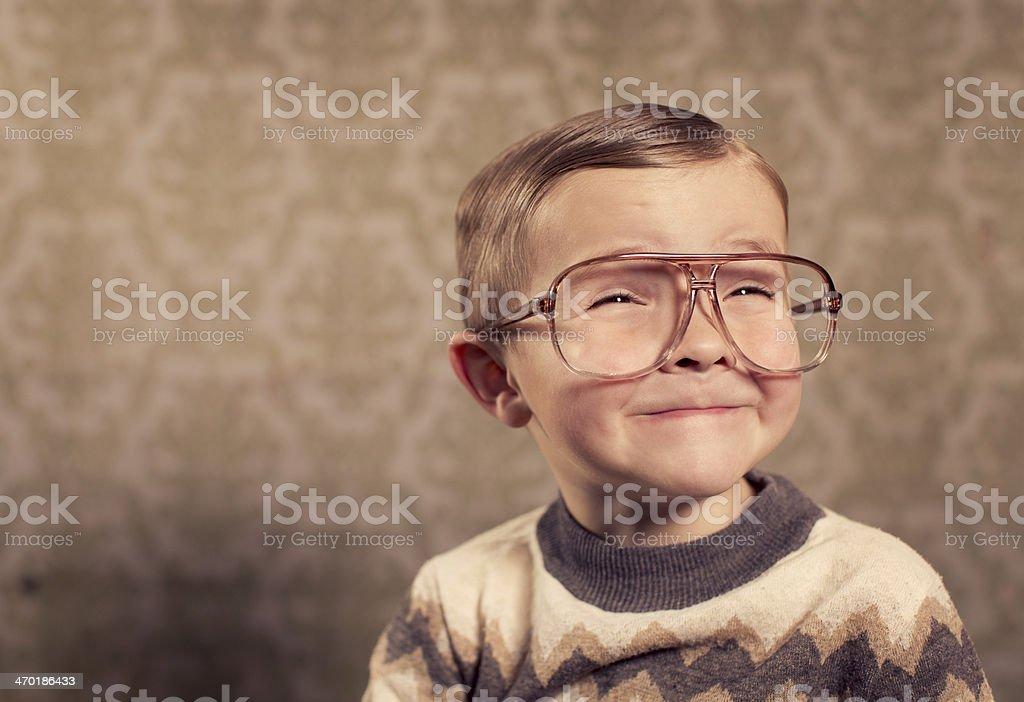 Vintage Nerd stock photo