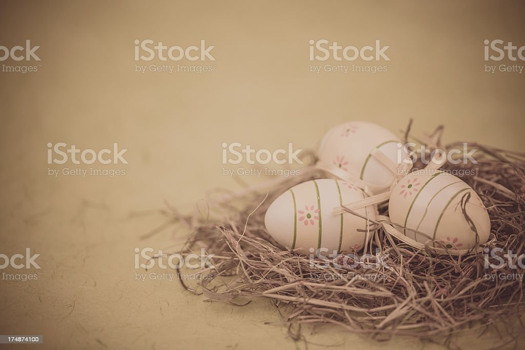 Vintage Nest egg royalty-free stock photo
