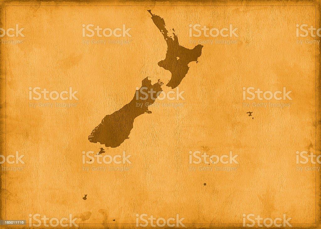 Vintage new zeland map royalty-free stock photo