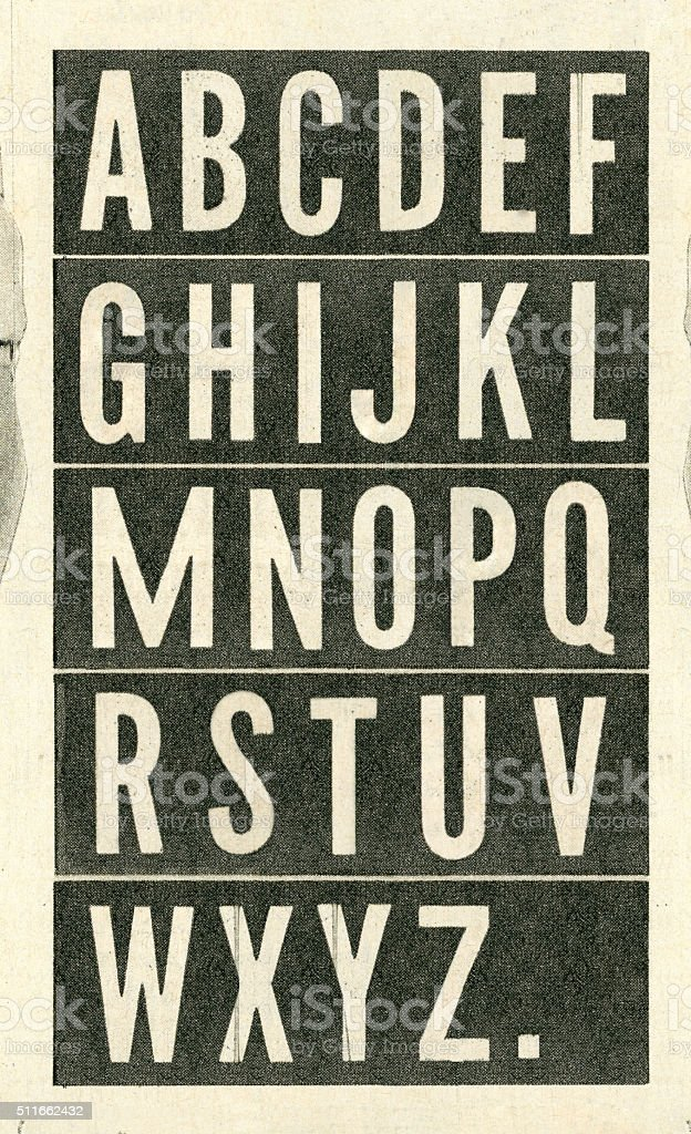 Vintage Newspaper Typography stock photo