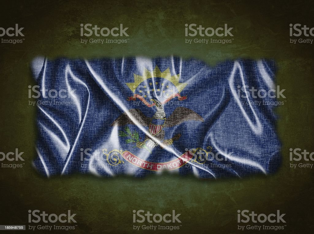 Vintage North Dakota flag. stock photo