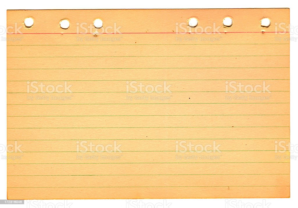 Vintage Note Card royalty-free stock photo