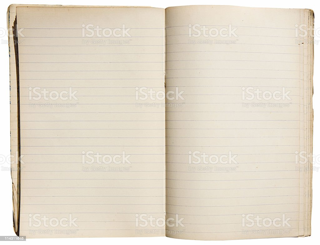 Vintage notebook stock photo