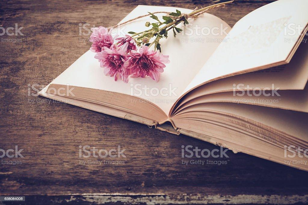 Vintage novel books stock photo