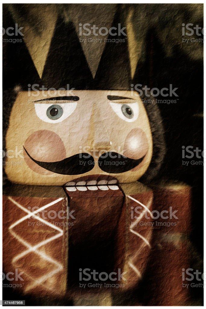 vintage nutcracker stock photo