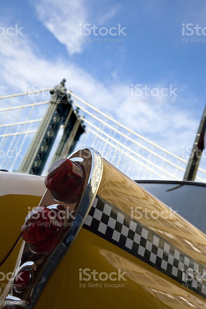 vintage nyc taxi royalty-free stock photo