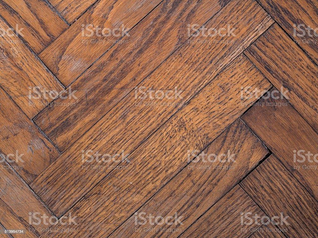 Vintage oak parquet stock photo