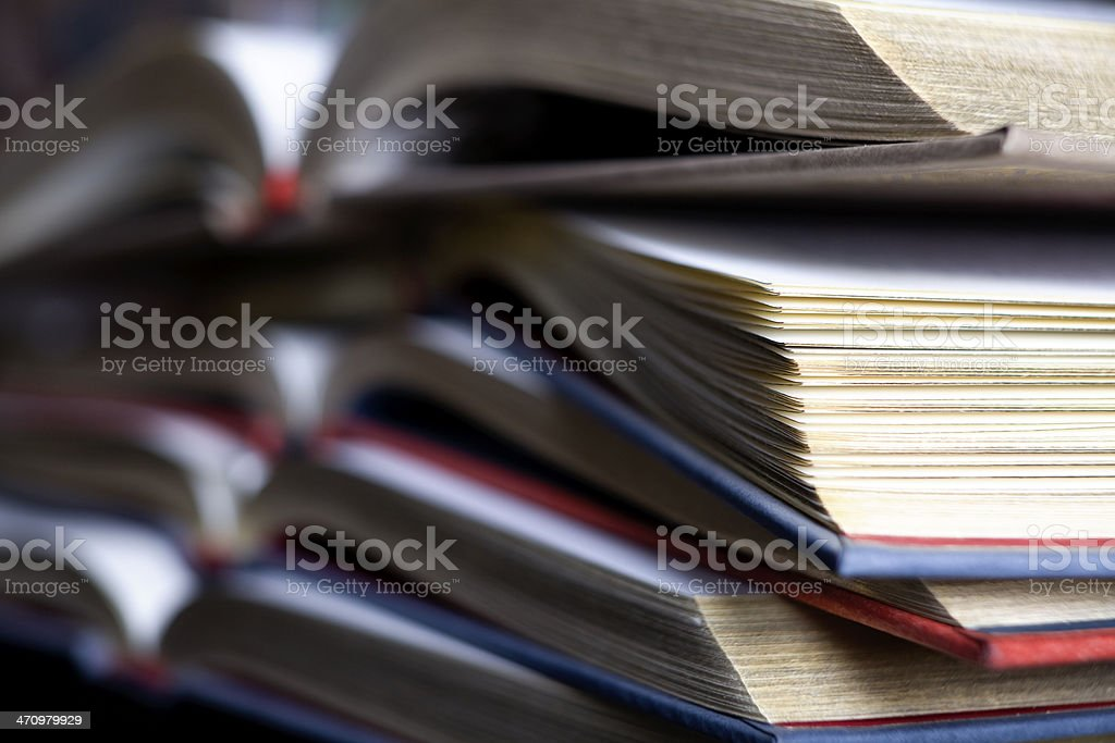 Vintage old books stock photo