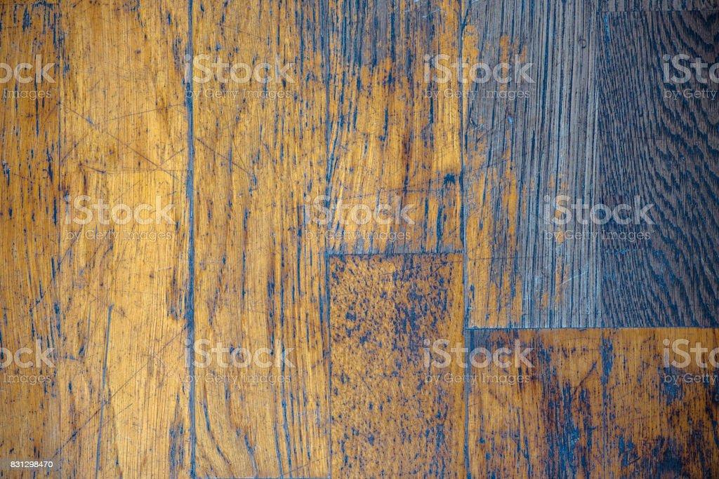 Vintage old grunge parquet background or texture stock photo