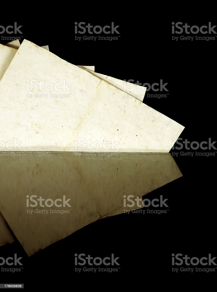 Vintage old paper, texture and copyspace royalty-free stock photo
