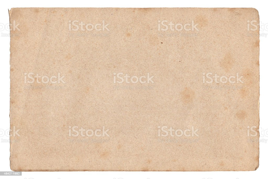 Vintage old paper texture isolated stock photo