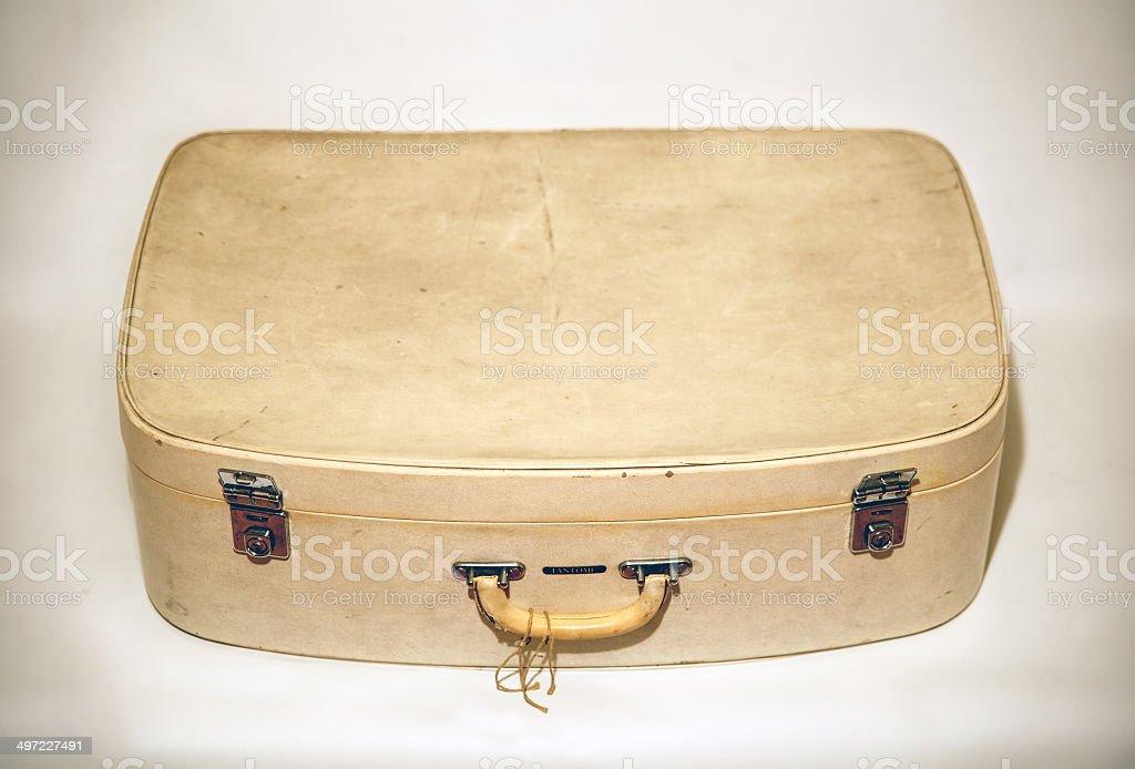 Vintage vecchia valigia retrò foto stock royalty-free