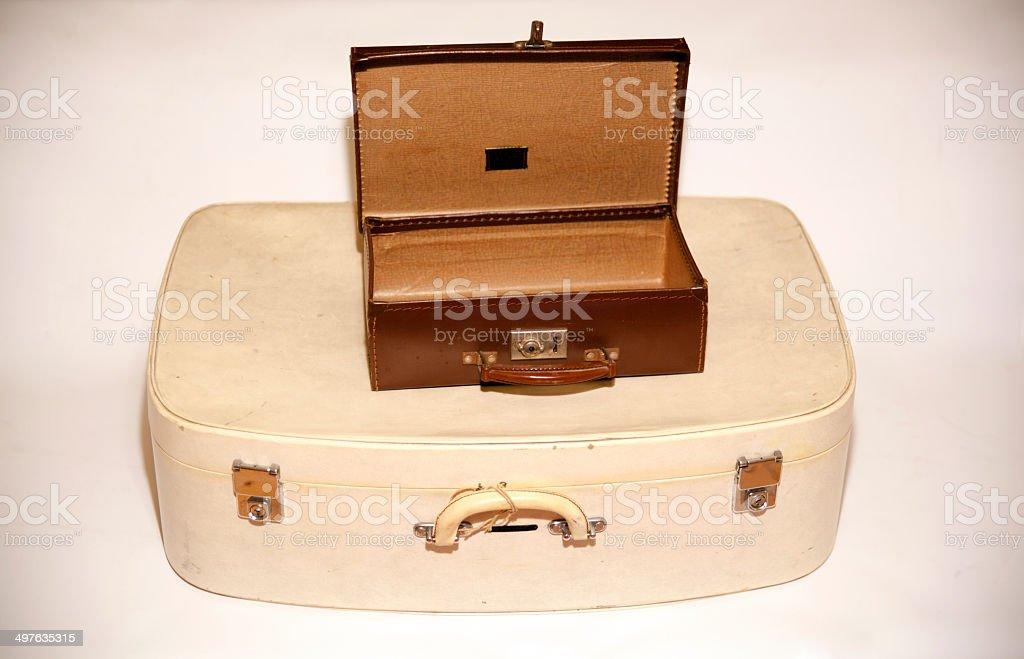 Vintage vecchia valigie foto stock royalty-free