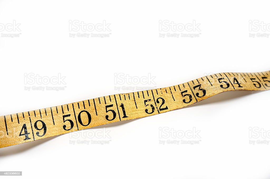 Vintage Old Tape Measure Section stock photo