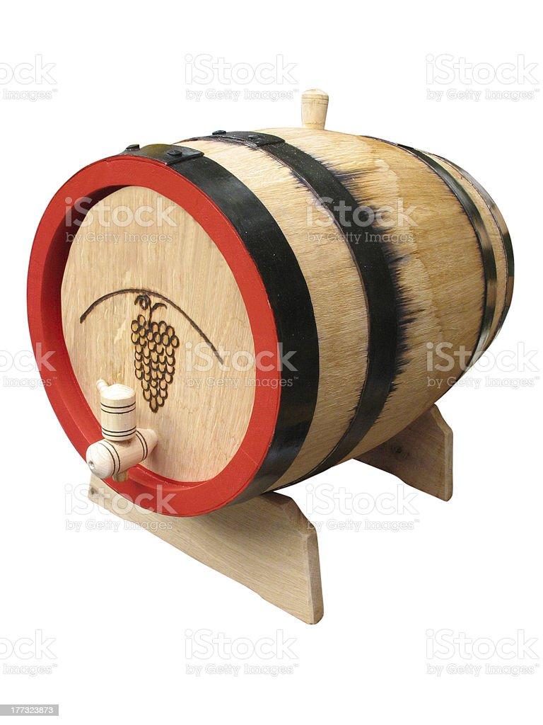 Vintage velho barril de madeira Isolada foto de stock royalty-free