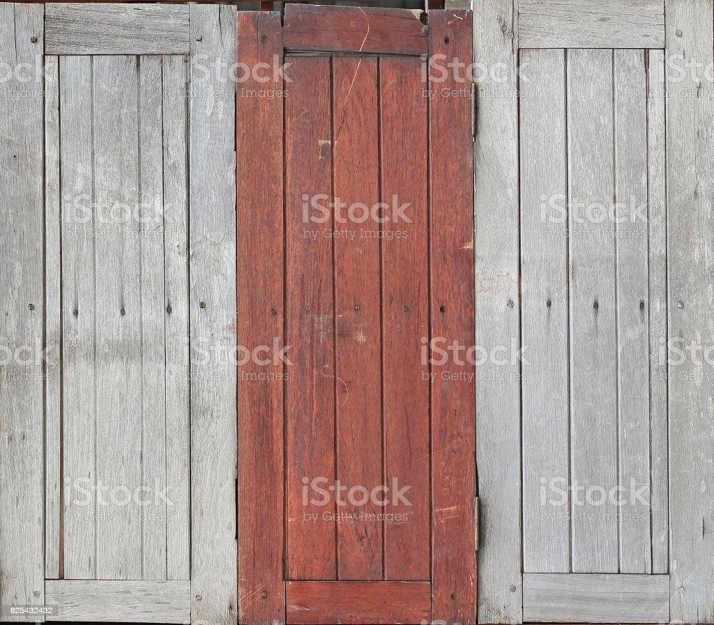 vintage old wooden window. stock photo