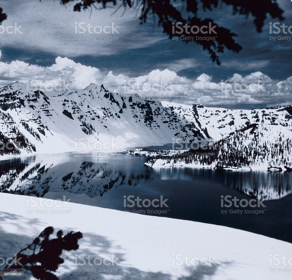 Vintage: Oregon - Crater Lake, 1960s stock photo