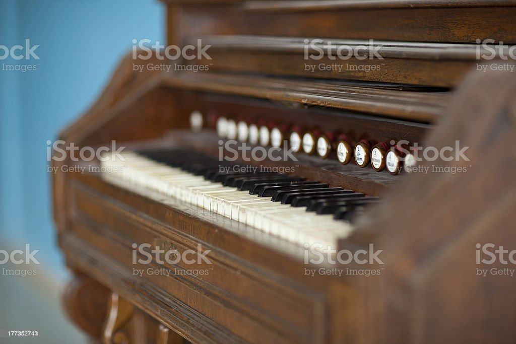 vintage organ stock photo