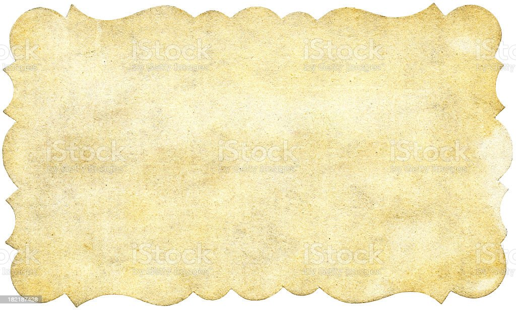 Vintage ornate paper with shaped border royalty-free stock photo