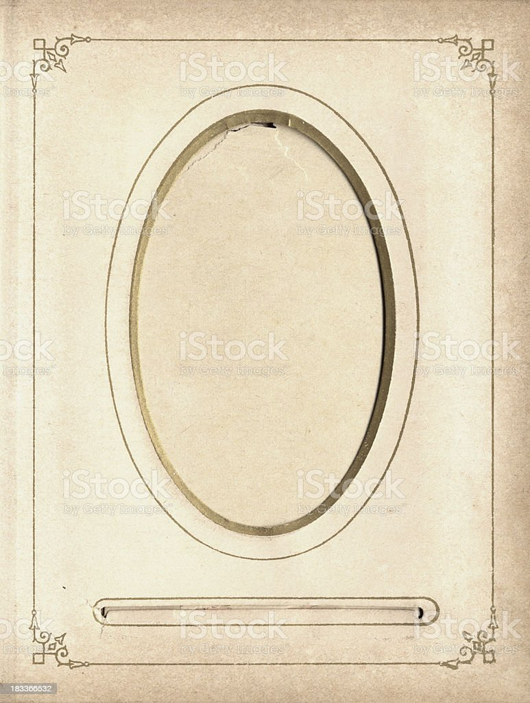 Vintage ornate photo frame from the victorian era stock photo