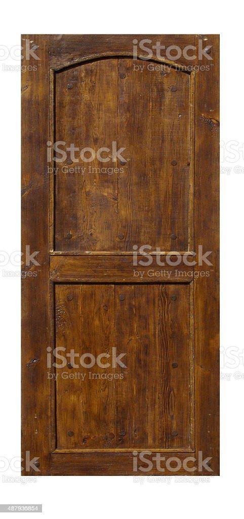 Vintage ornate Spanish style entry door stock photo