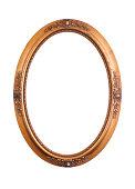 Vintage oval frame on white