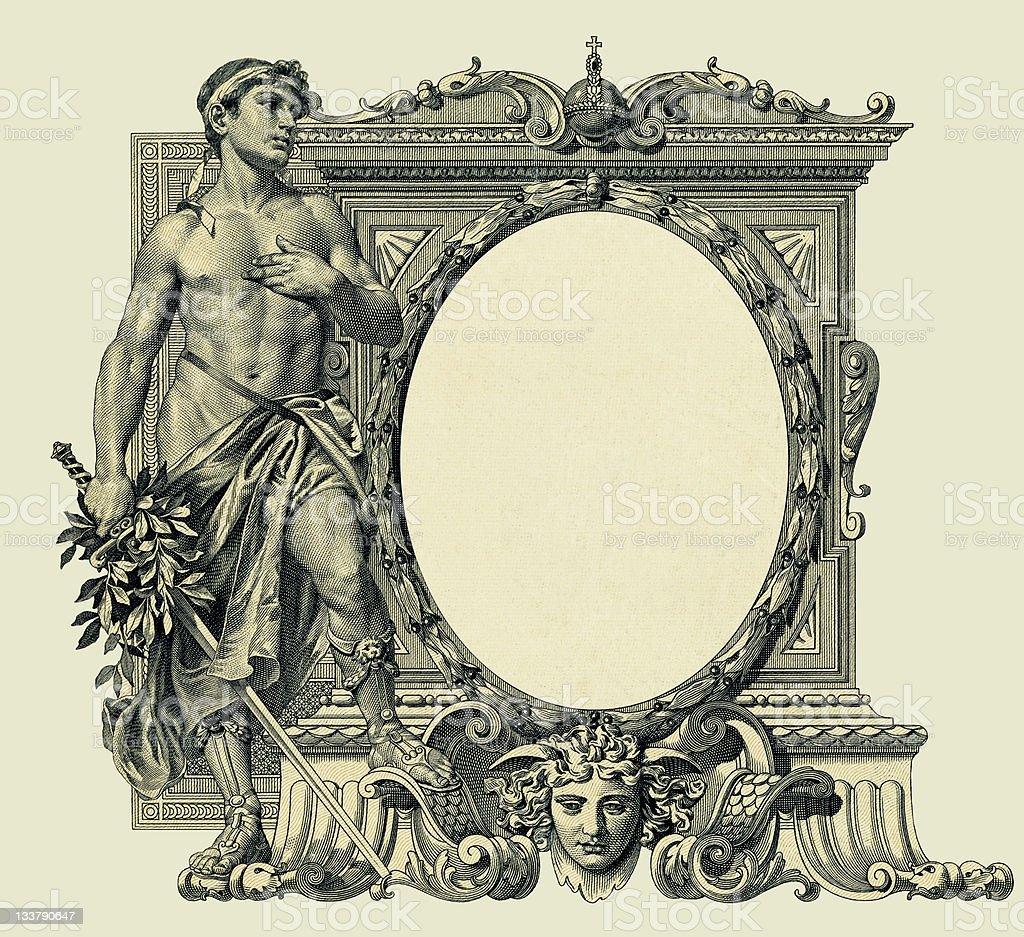 Vintage oval frame royalty-free stock photo