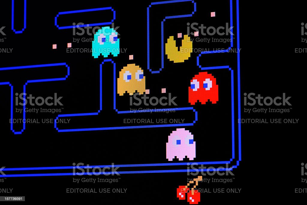 Vintage Pacman video game stock photo