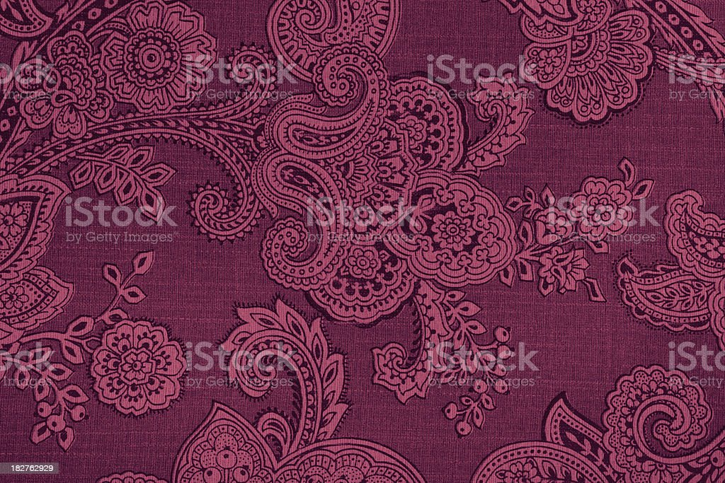 Vintage Paisley Retro Wallpaper stock photo