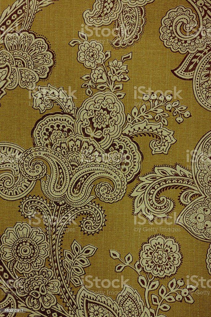 Vintage Paisley Retro Wallpaper royalty-free stock photo