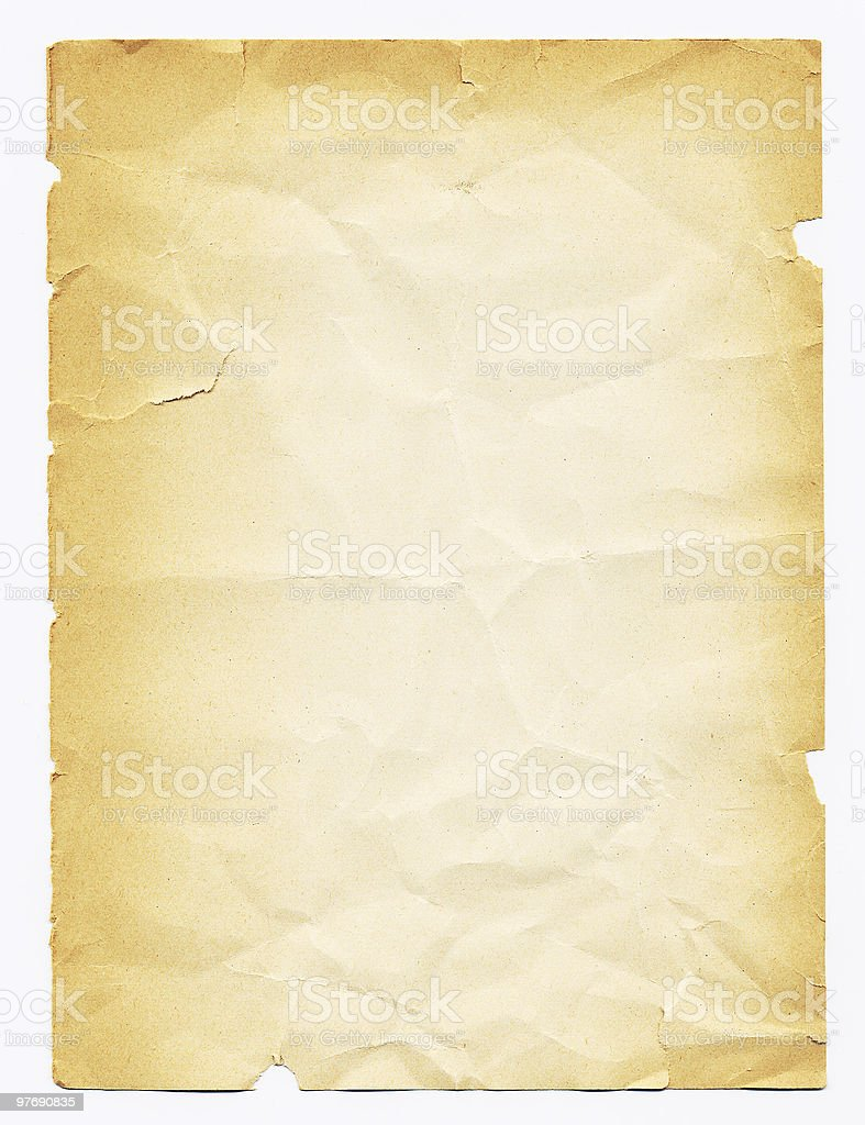 Vintage Paper 1 royalty-free stock photo