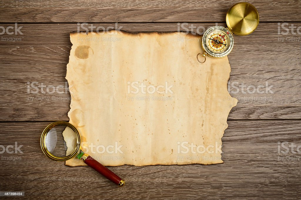 vintage paper for map or message stock photo