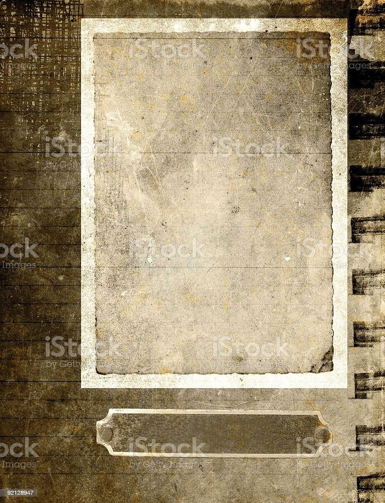 Vintage paper frame - sepia royalty-free stock photo