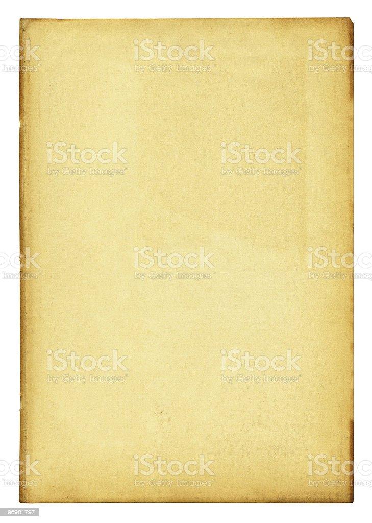 Papier Vintage avec un Tracé de détourage détaillé photo libre de droits