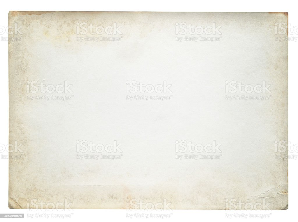 Vintage Paper isolated (clipping path included) royalty-free stock photo