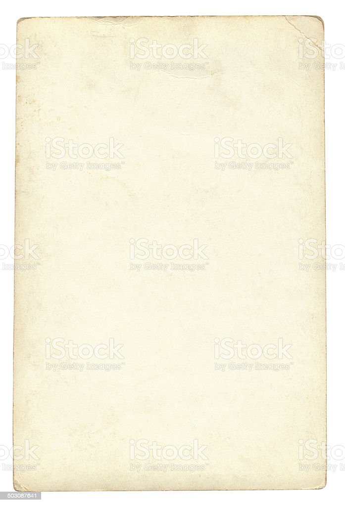 Vintage Paper isolated (clipping path included) stock photo