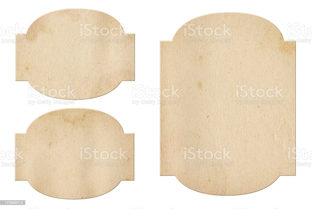 Vintage Paper Labels XXXL royalty-free stock photo
