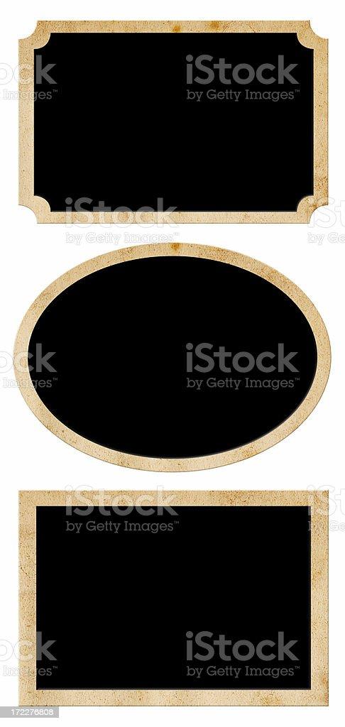 Vintage Paper Labels/Badges (XL) royalty-free stock photo