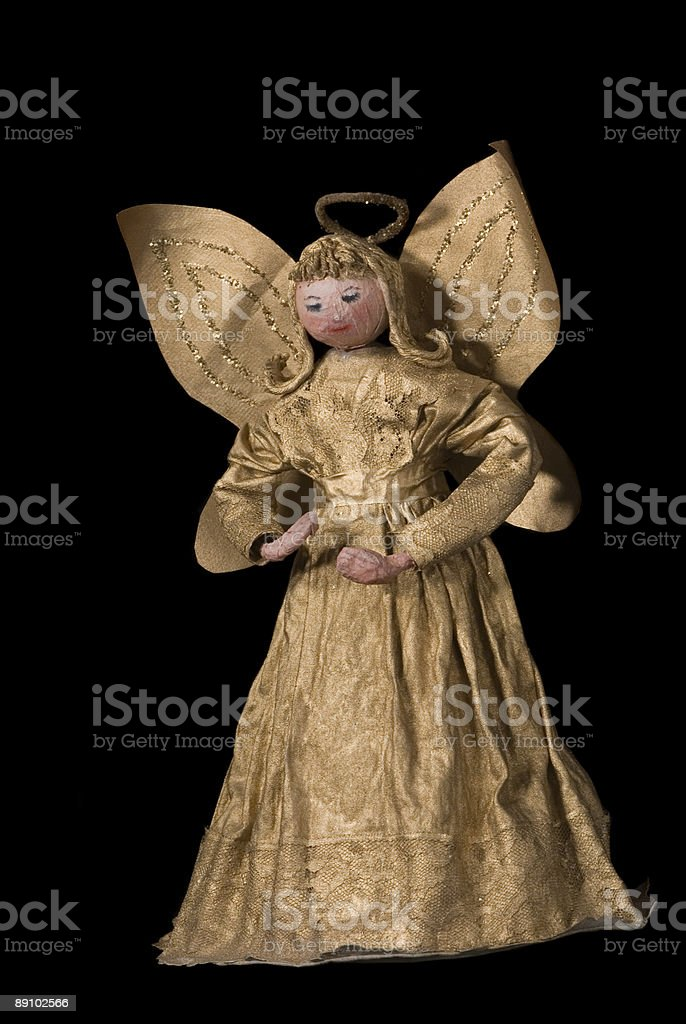Papel Vintage Mache Angel foto royalty-free