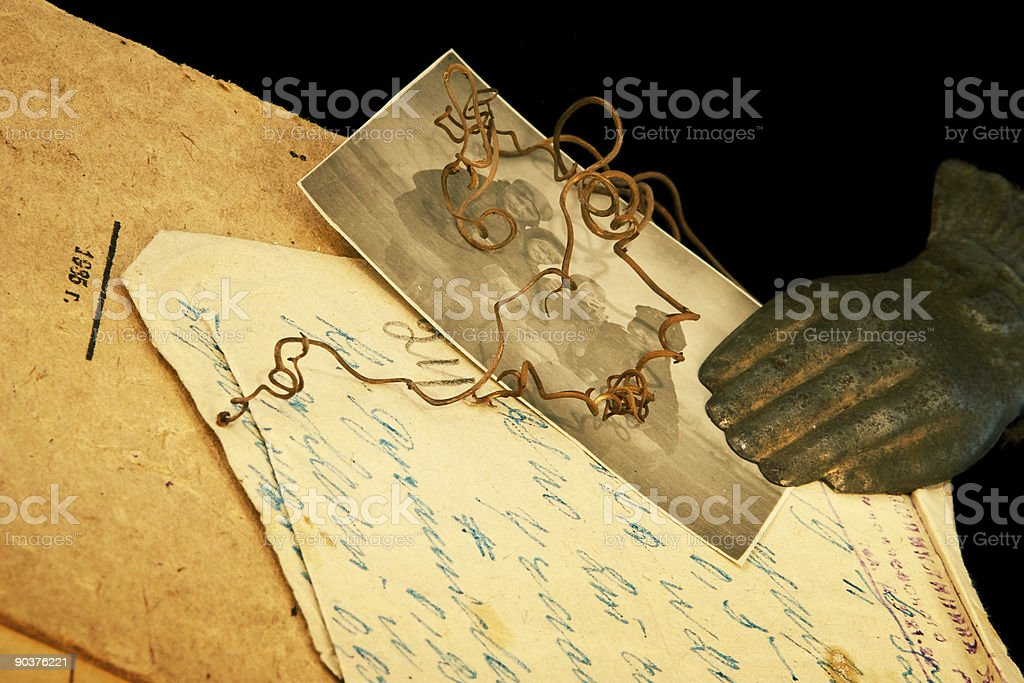 Vintage paper manuscripts royalty-free stock photo