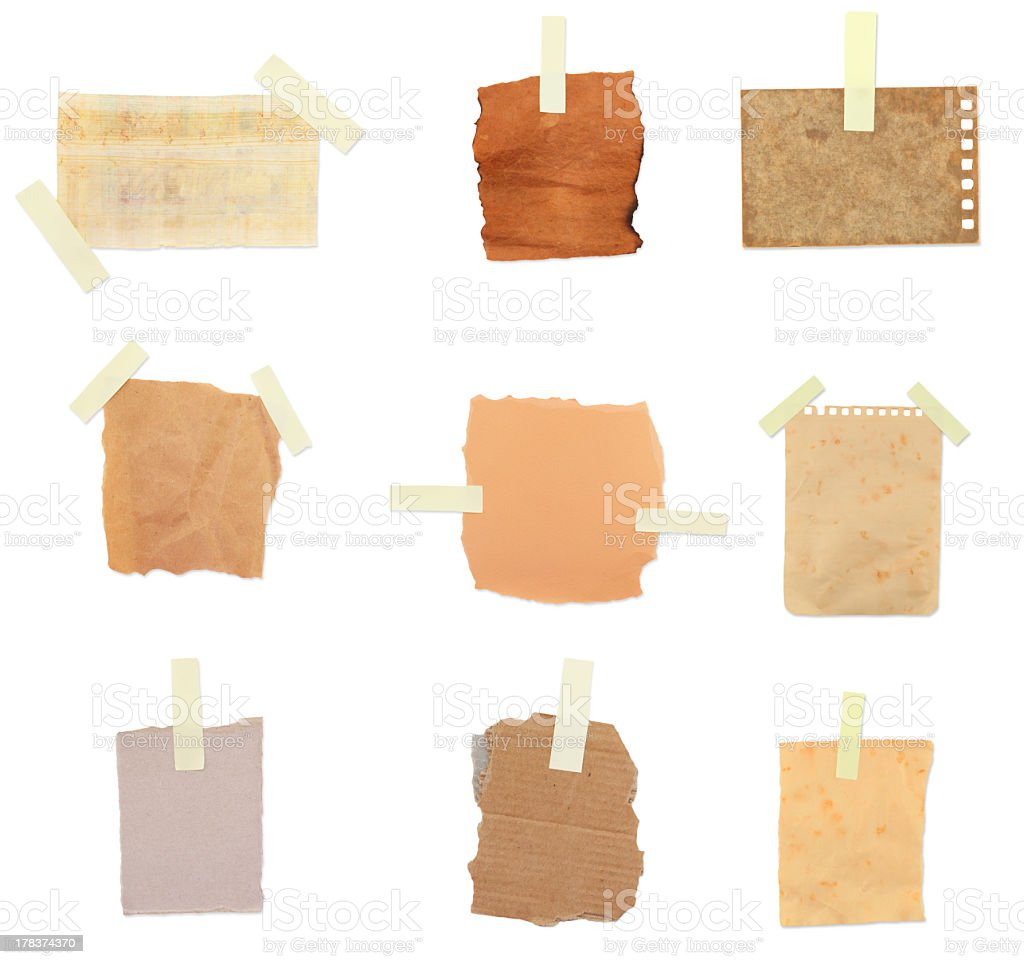 vintage paper notes stock photo