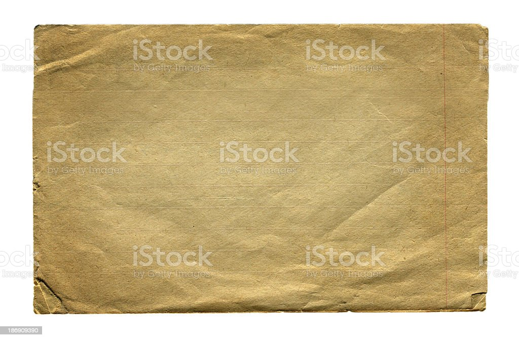 Vintage Paper Page isolated royalty-free stock photo