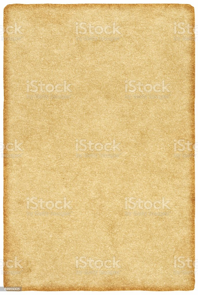Vintage paper - pergament royalty-free stock photo