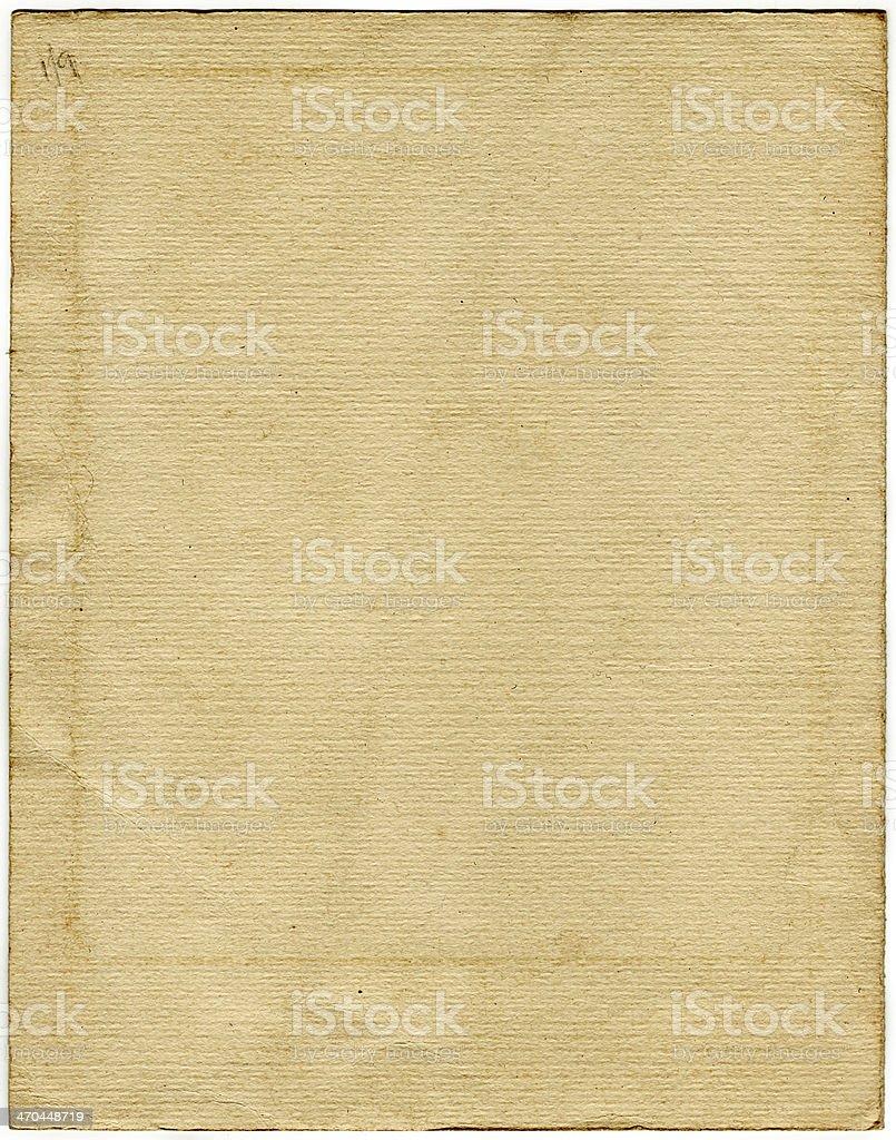 Vintage carta (con clipping path) foto stock royalty-free