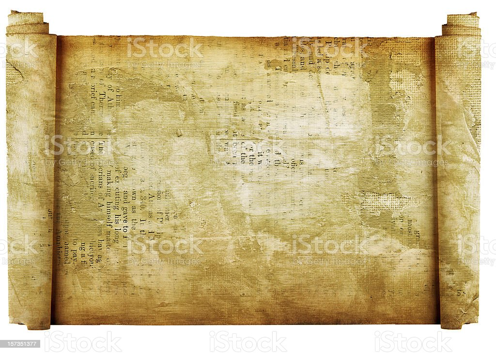 Vintage Paper Scroll stock photo